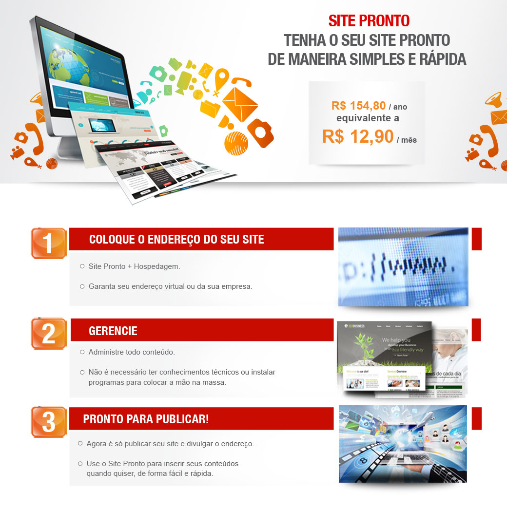 Site Pronto - Tenha o seu site pronto de maneira simples e rápida